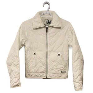 Hurley White Quilted Jacket - Women's Size XS